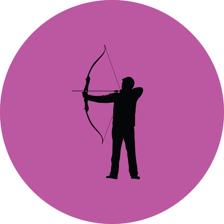 bow arrow: Archer arco de flecha Vectores