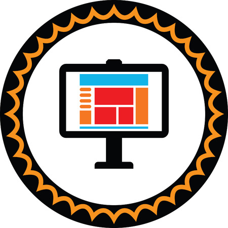 screen: computer screen vector icon Illustration