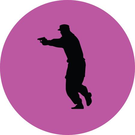 militia: policeman with a gun
