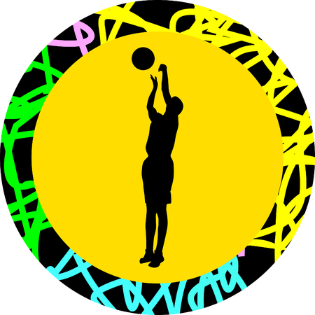 dribbling: basketball player
