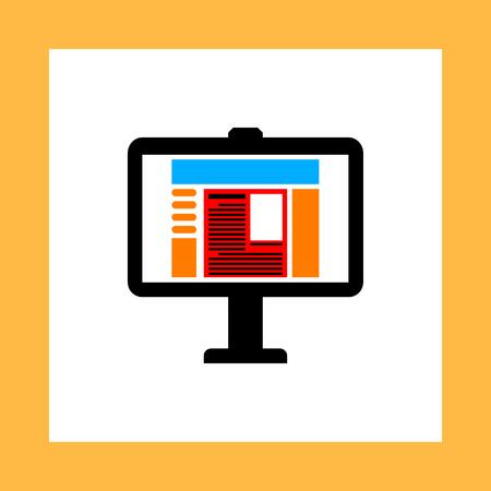 computer screen: computer screen vector icon Illustration
