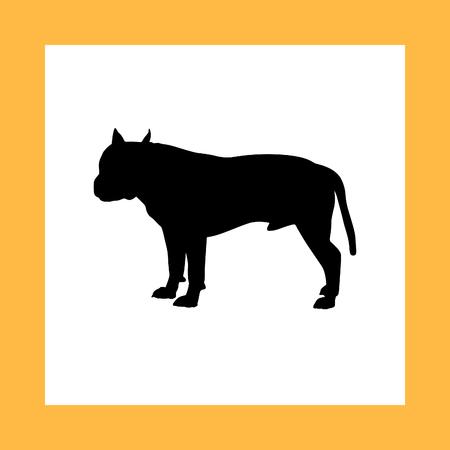 hounds: dog silhouette Illustration