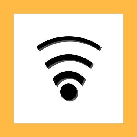 web cast: wifi vector icon