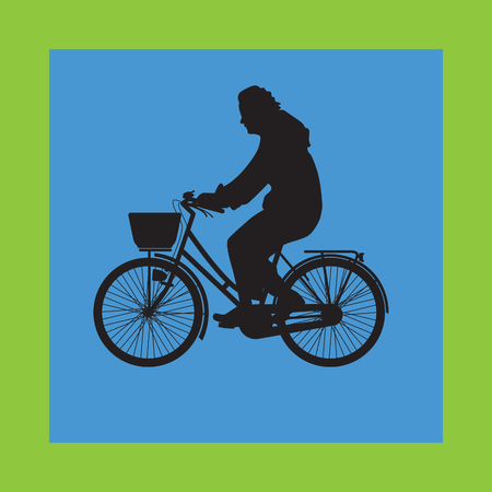 bicyclist: bicyclist silhouette vector