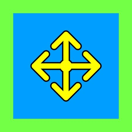 back and forth: arrow move vector icon