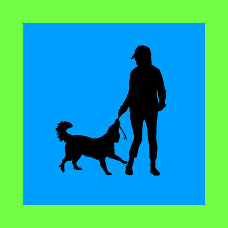 dressage: woman and dog