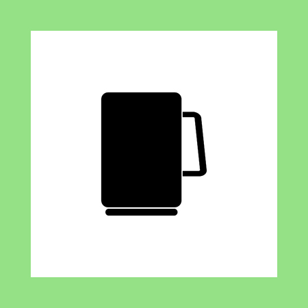 handle bars: drinking glass vector icon