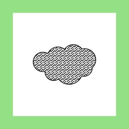 cloud: rain cloud vector icon Illustration
