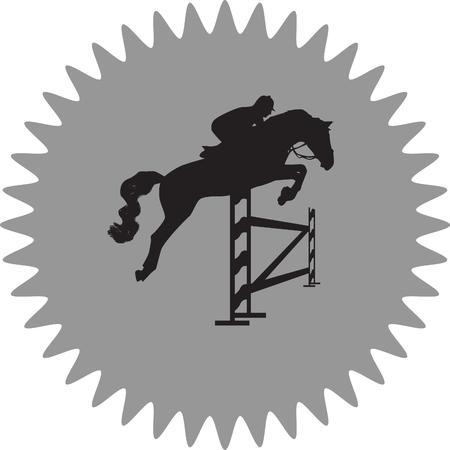 jockey: jockey and horse Illustration