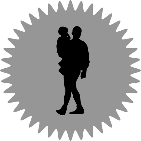 father: father carrying a baby