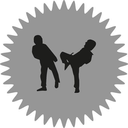 couple fight: taekwondo