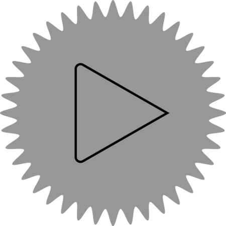 inactive: play button vector icon