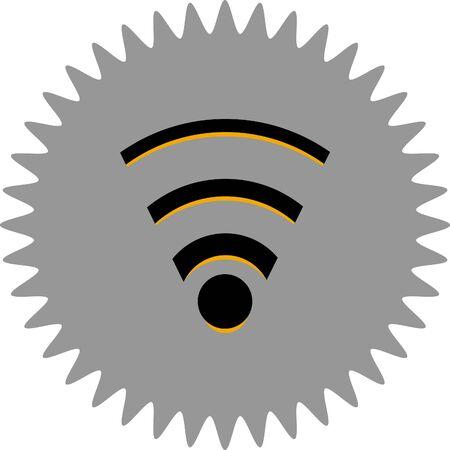 wireless icon: wireless vector icon
