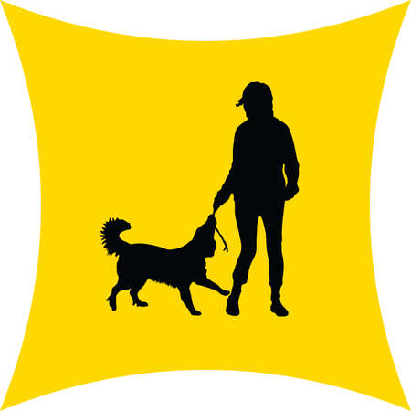 hounds: woman and dog