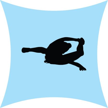 flexible girl: rhythmic gymnastics