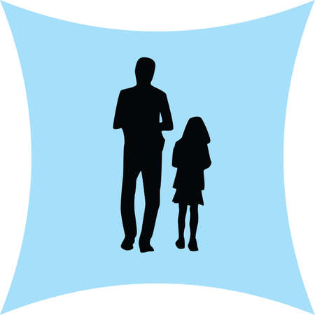 father: father and daughter