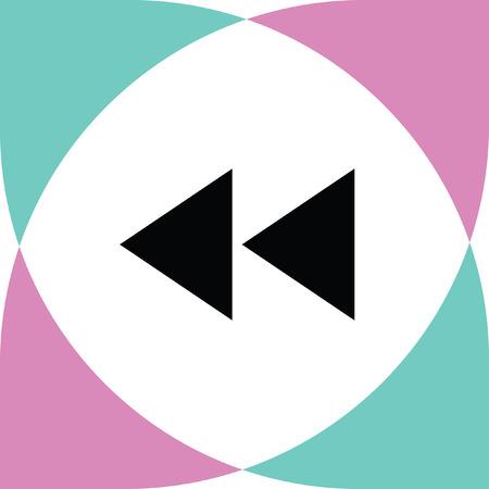 backward: backward button vector icon
