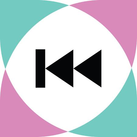 previous: previous button vector icon