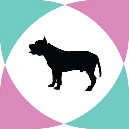 dressage: dog silhouette Illustration