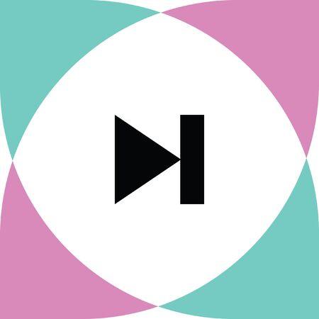 forward icon: forward button vector icon