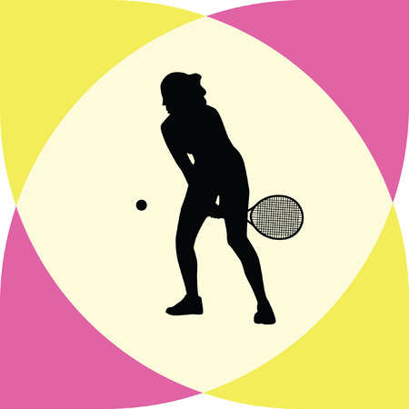 girl tennis: girl play tennis