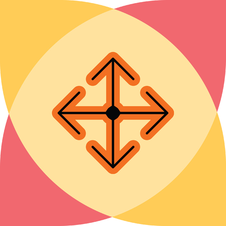 moving down: arrow move vector icon
