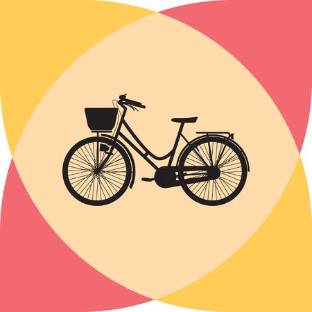 spoke: bike silhouette vector