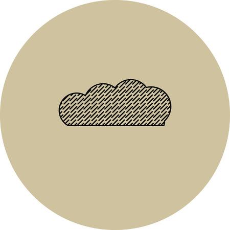 rain cloud: rain cloud vector icon Illustration