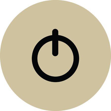 shut out: power button vector icon
