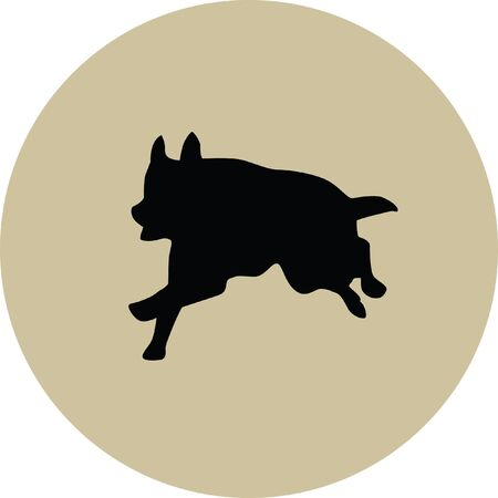german shepherd: german shepherd Illustration