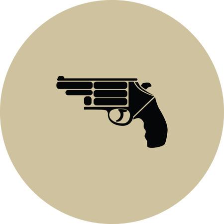 violence and trigger: gun vector icon