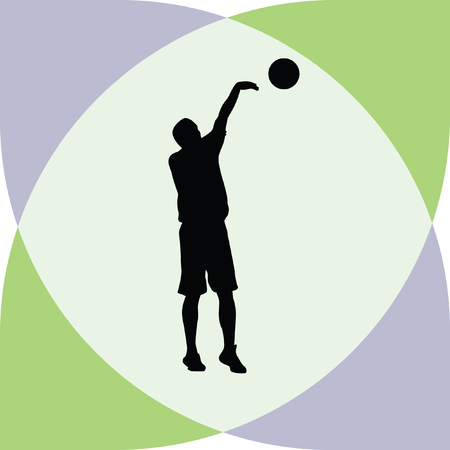 basketball player Stock Vector - 60911829
