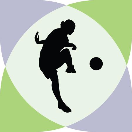 arquero de futbol: jugador de fútbol de la mujer