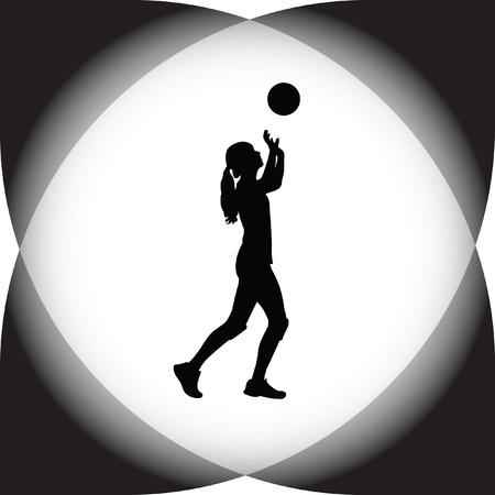 smashing: volleyball woman player