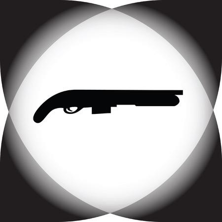 fusil de chasse: shotgun Illustration