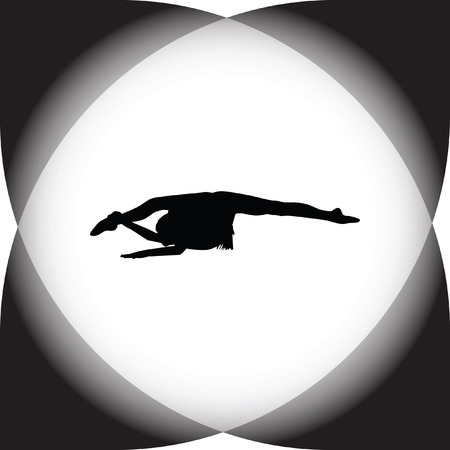 handstand: rhythmic gymnastics