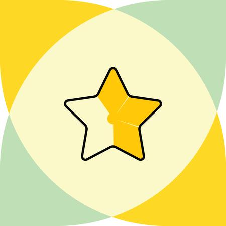 favorite: gold star favorite icon