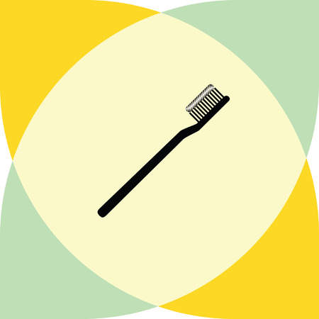 toothbrush vector icon Illustration