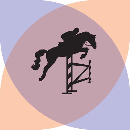 purebred: jockey and horse Illustration