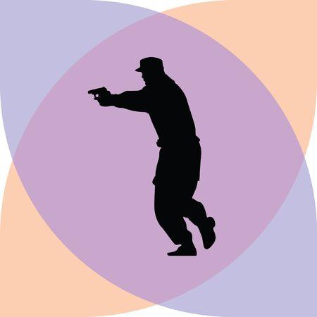 patrol: policeman with a gun