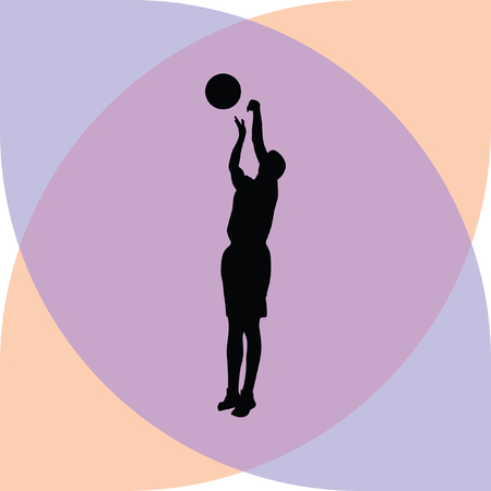 basketball player Stock Vector - 61297642