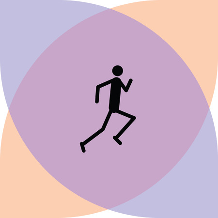 runner vector icon Illustration
