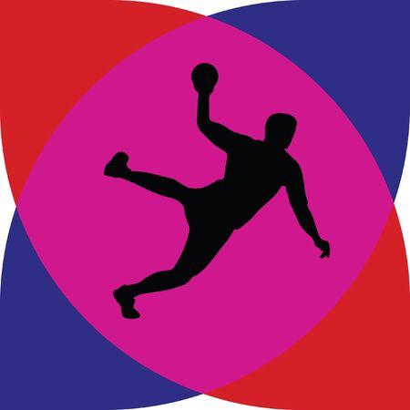 arquero de futbol: balonmano  Vectores