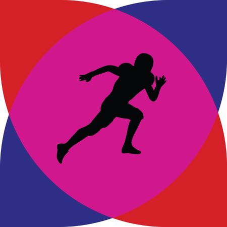 scramble: american football player Illustration