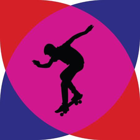 long jump: skateboarder
