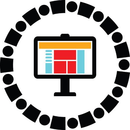 screen: computer screen vector icon Illustration