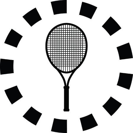 racket: tennis racket Illustration