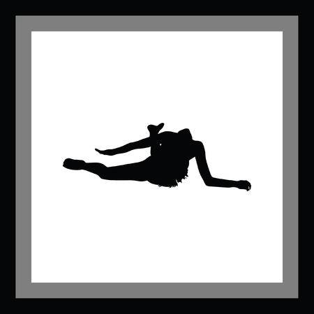 flexible woman: rhythmic gymnastics
