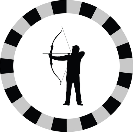 bow and arrow: archer bow arrow Illustration