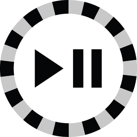 pause: play pause button Illustration